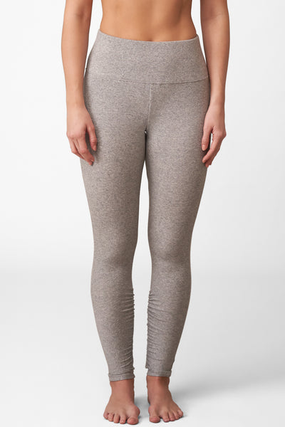 Dreamer Ribbed High-Waist Legging in Heather Grey Front View