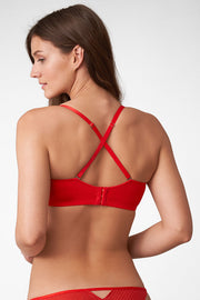 Roulette Multi-Way Unlined Balconette Bra in Heart Throb X-Back View