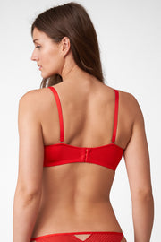 Roulette Multi-Way Unlined Balconette Bra in Heart Throb Back View
