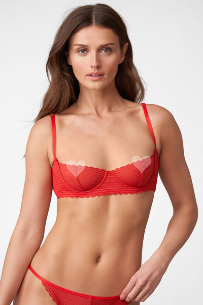 Roulette Multi-Way Unlined Balconette Bra in Heart Throb Front View