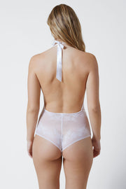 Straight Laced Bodysuit in White Back View 2