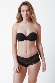 Strut Multi-Way Strapless Bra in Black Front View