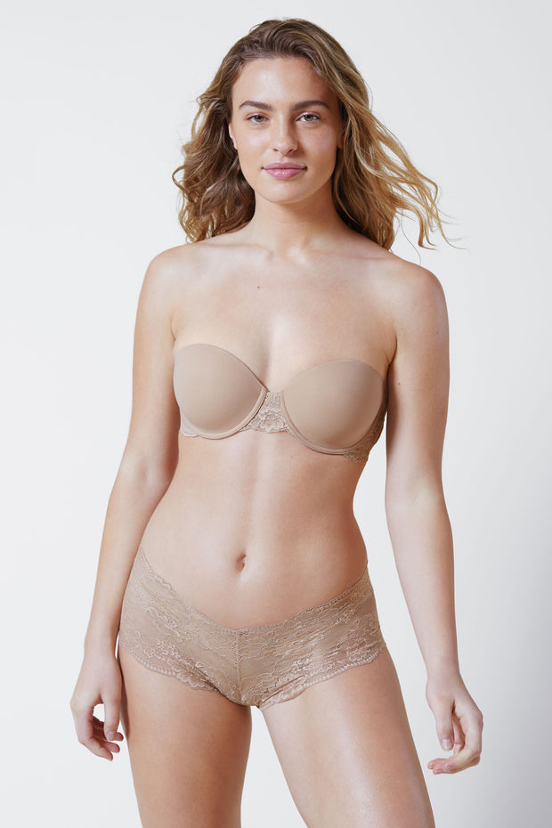 Strut Multi-Way Strapless Bra in Nylon Front View