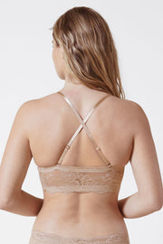 Strut Multi-Way Strapless Bra in Nylon X-Back View