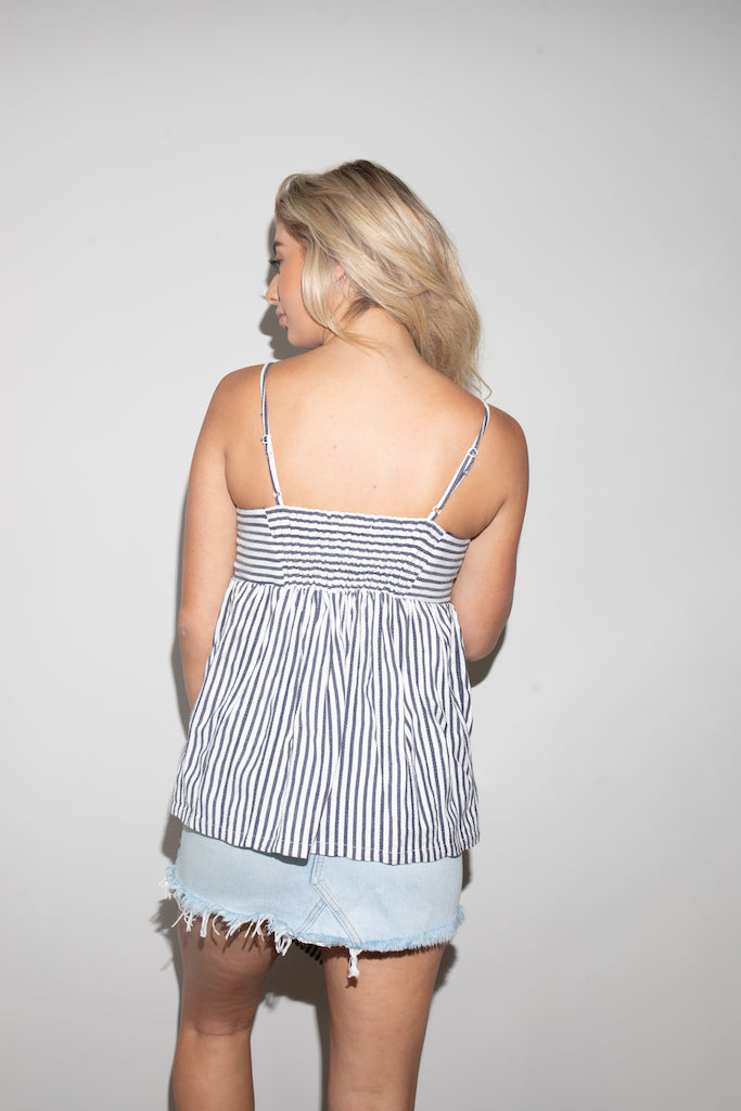 Floral Blast Nautical Top
