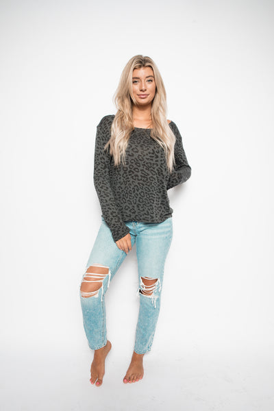 Wild Thing - Charcoal Sweater