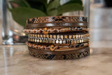 Multi Layer Leather Wrap Bracelet