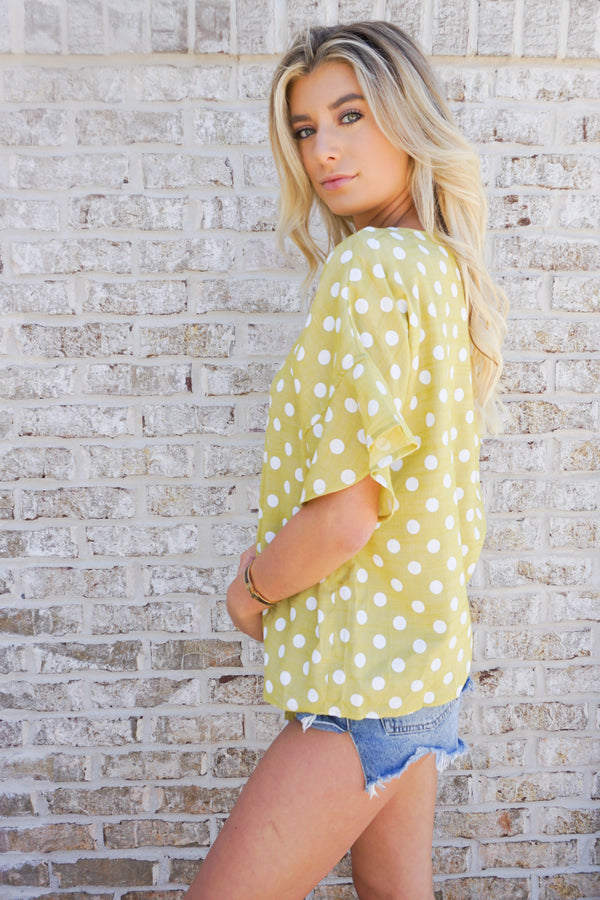 Flirty Polka Dot Top
