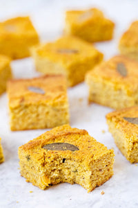 An amazing recipe for vegan gluten-free cornbread that uses butternut squash and sage for a fun flavor