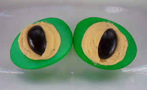 Reptile Eye Deviled Eggs for Halloween -and Instant Pot pressure cooker hard boiled eggs