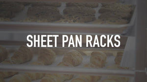 Sheet pan racks are great for bakeries, meat markets, grocery stores, and more! Shop Sheet Pan Racks: ...