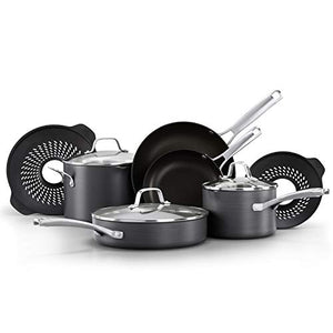 Focus on other tasks when cooking foods like pasta, rice, potatoes, and beans with the Calphalon classic nonstick 10 piece cookware set with no boil-over inserts