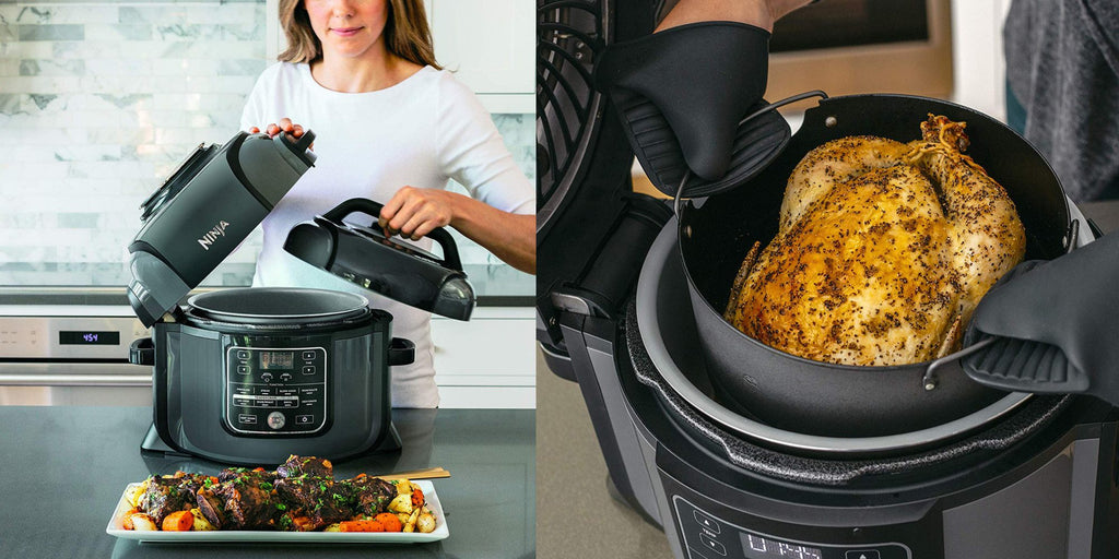 The official Newegg eBay store is offering the manufacturer refurbished Ninja OP302 Foodi Cooker for $119.99 shipped