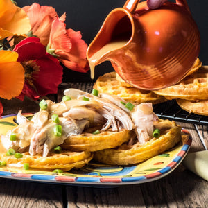 "Keto Chaffle with Chicken – Amish Style is a family take on the classic ""Chicken with Waffles."" As the Chaffle has taken the Keto world by storm, bloggers are creating and re-creating classic recipes using Chaffles – the new Keto darling! Joanie is..."