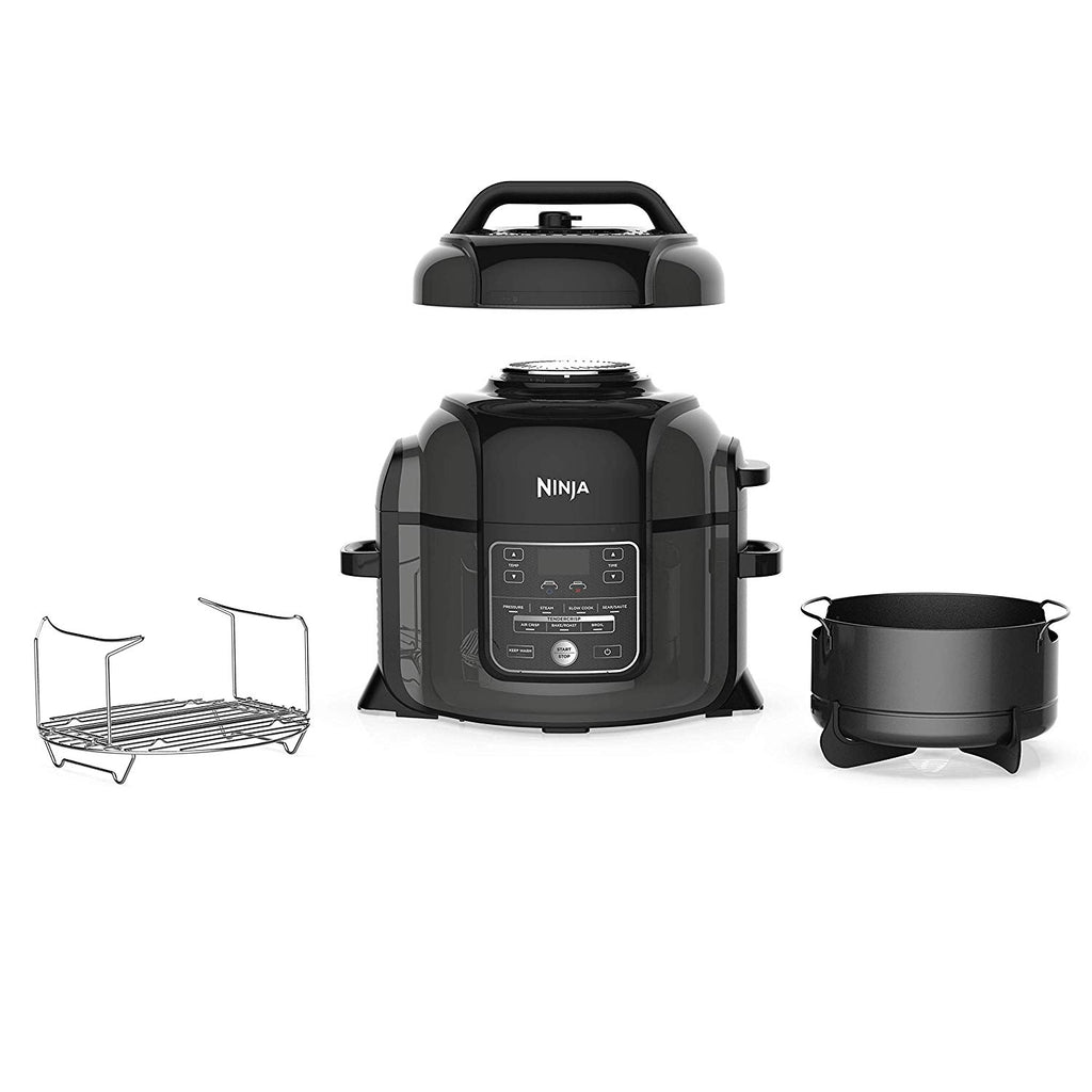 Ninja OP301 Pressure Cooker, Steamer & Air Fryer w/TenderCrisp Technology Pressure & Crisping Lid, 6.5-Quart, Black/Gray $119.99