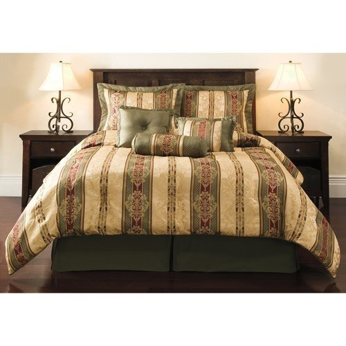 Comfort Green And Gold Bedding