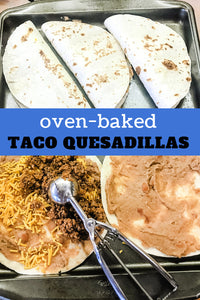 Easy and fast! Oven-Baked Taco Quesadillas are a ground beef favorite for week-night meals at our house