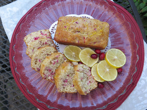 Meyer Lemon and Cranberry Cakes - Miniature Cakes
