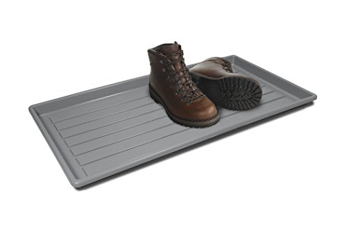 Storex Boot and Shoe Household Utility Tray, Grey (00801U01C)