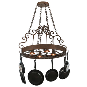 "34""W Dior 4 LT Pot Rack Model 118490"