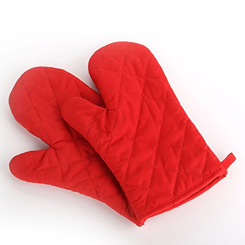 Baking oven Gloves Special heat insulation and heat resistant gloves,Red,1 Pair