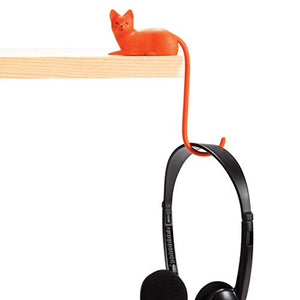 Monkey Business Ginger The Cat Tail Hook for Computer Screen, Tight Spaces, Hang Keys, Accessories in Easy Reach