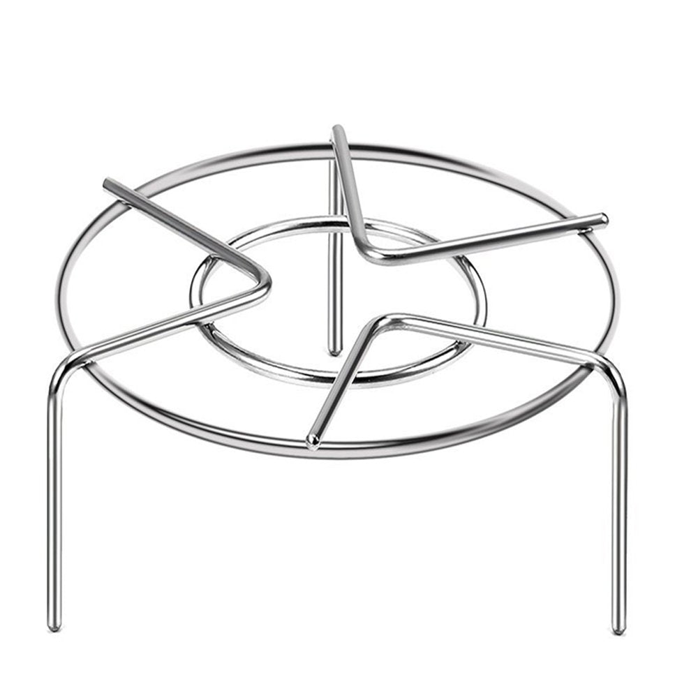 Guestway Pressure Cooker Trivet Pot Pan Cooking Stand Food Vegetable Crab Tall Wire Heavy Duty Stainless Steel Steaming Rack Cookware, Higher, Silver