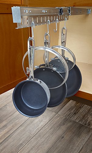 Good Cushion, Pan & Lid Holder Dr.Organizer Pot and Pan Cabinet Organizer, Expandable, 1pc, Steel Gray