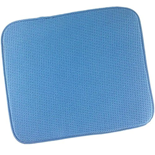 M-s Cloth Microfiber Dish Plate Drying Mats Kithcen Super Absorbent blue 16inch X 18inch
