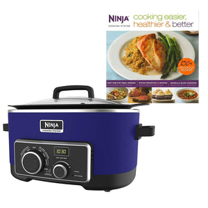 Ninja 6 Quart 4 In 1 Slow Cooker with 150 Recipe Book (Certified Refurbished)
