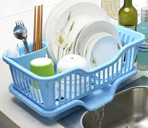 Large Kitchen Rack Shelf Kitchen Dish Rack/drain Dishes Racks / Kitchen-pod (Blue)