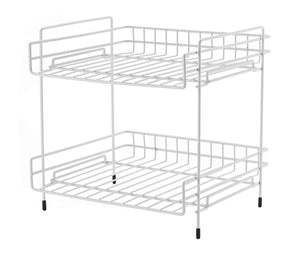 "NEUN WELTEN Deep 2 Tier Kitchen Helper Shelf Rack with Large Storage Space 10"" L x 11"" W x 11.4"" H (Espresso)"