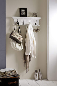 NovaSolo Halifax 4-Hook Coat Rack, White