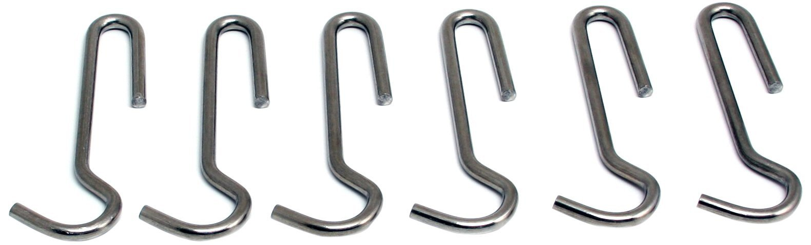 Enclume Straight Pot Hook, Set Of 6, Use With Pot Racks, Stainless Steel
