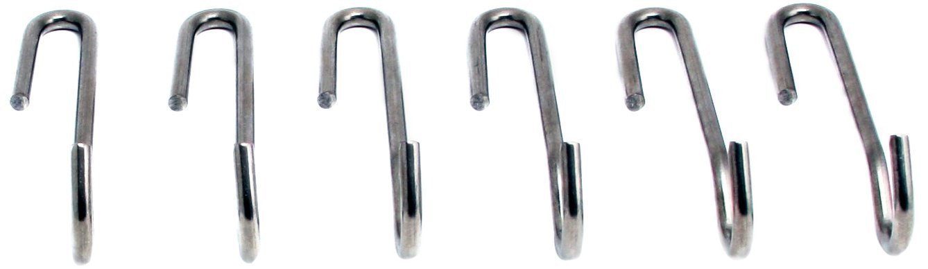 Enclume Angled Pot Hook, Set Of 6, Use With Pot Racks, Stainless Steel