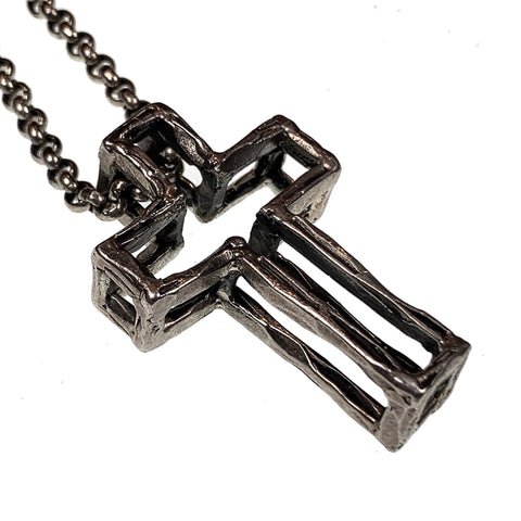 3D Cross Silver (Small)