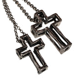 3D Cross Silver (Large) - Alkemi Designs