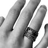 Stacking Rings Solid 925 Silver - Alkemi Designs