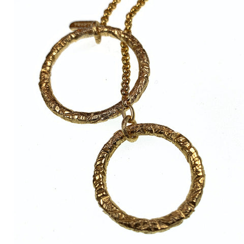 Lariat Double ring in 18kt Gold - Alkemi Designs