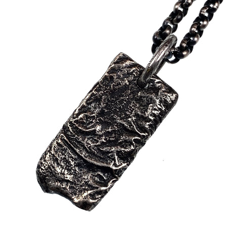 Liquid freeform rectangular Pendant - Alkemi Designs