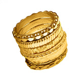 Stacking Rings in 18kt Gold PL - Alkemi Designs
