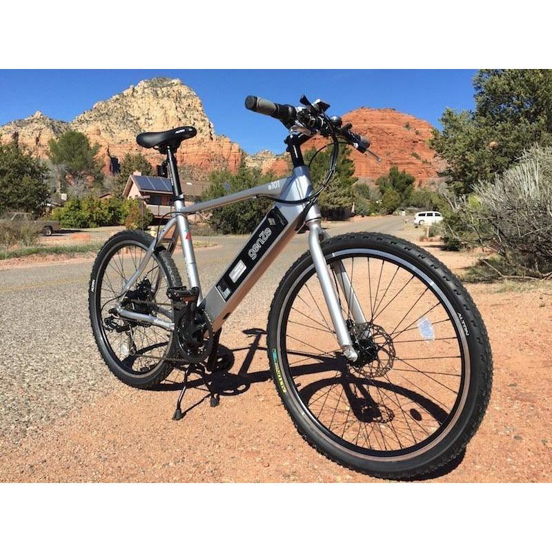 American Electric Electric Bikes In Stock American Electric GenZe 350W Sport Silver Crossbar Electric Bike E101