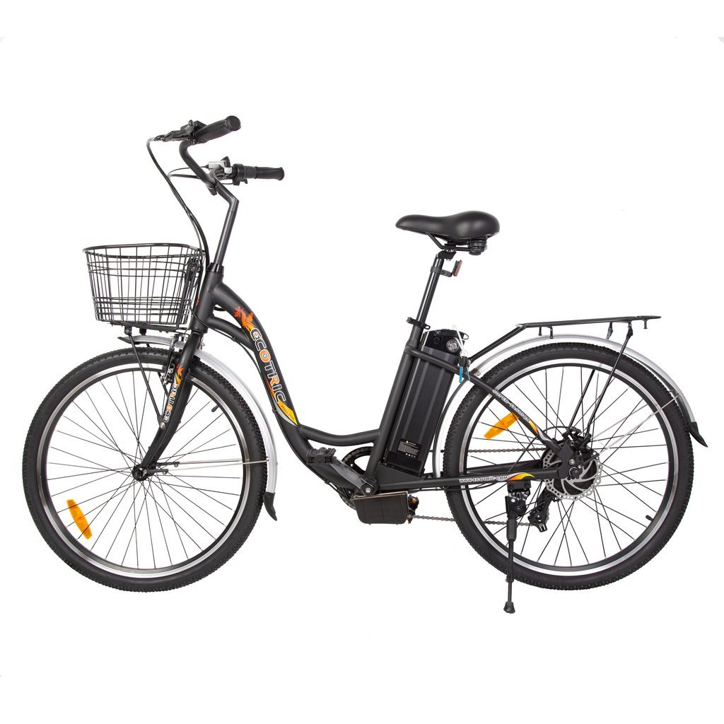 Ecotric Electric Bikes Black Ecotric Peacedove Electric City Bike