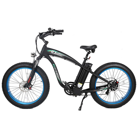 Ecotric Electric Bikes Blue Ecotric Hammer Fat Tire Beach Snow Electric Bike HAMMERUSB