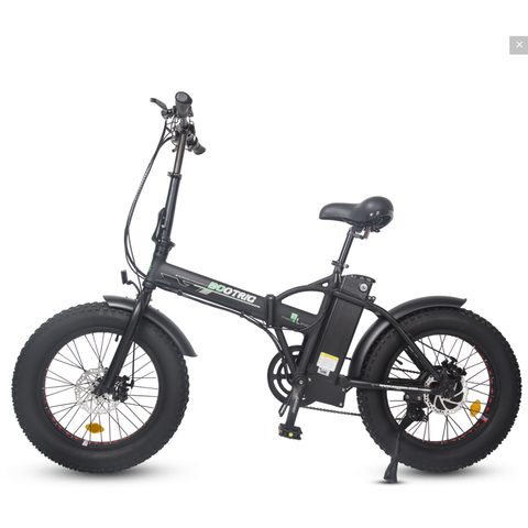 Ecotric Electric Bikes Ecotric 48V Fat Tire Portable & Folding Electric Bike with LCD display FAT20S900
