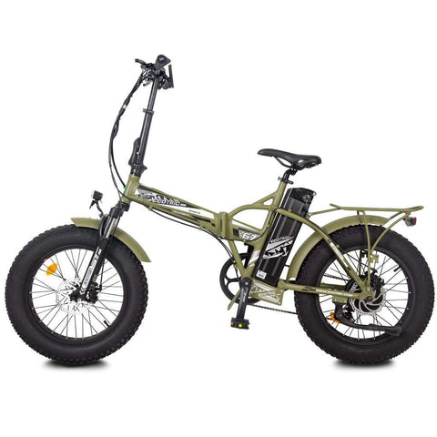 Ecotric Electric Bikes Green Ecotric 48V Fat Tire Portable & Folding Electric Bike With Color LCD - FAT20850C
