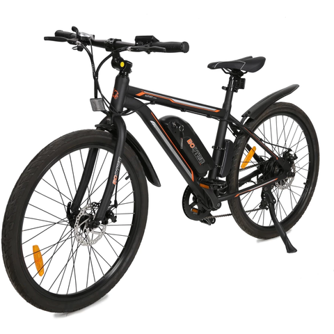 Ecotric Electric Bikes Matt Black Ecotric Vortex Electric City Bike