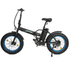 Image of Ecotric Electric Bikes Matte Black Blue Ecotric Fat Tire Portable & Folding Electric Bike FAT20810