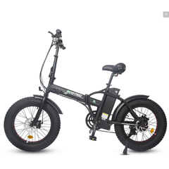 Ecotric Electric Bikes Matte Black Ecotric 48V Fat Tire Portable & Folding Electric Bike with LCD display FAT20S900