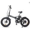 Image of Ecotric Electric Bikes Matte Black Ecotric 48V Fat Tire Portable & Folding Electric Bike with LCD display FAT20S900